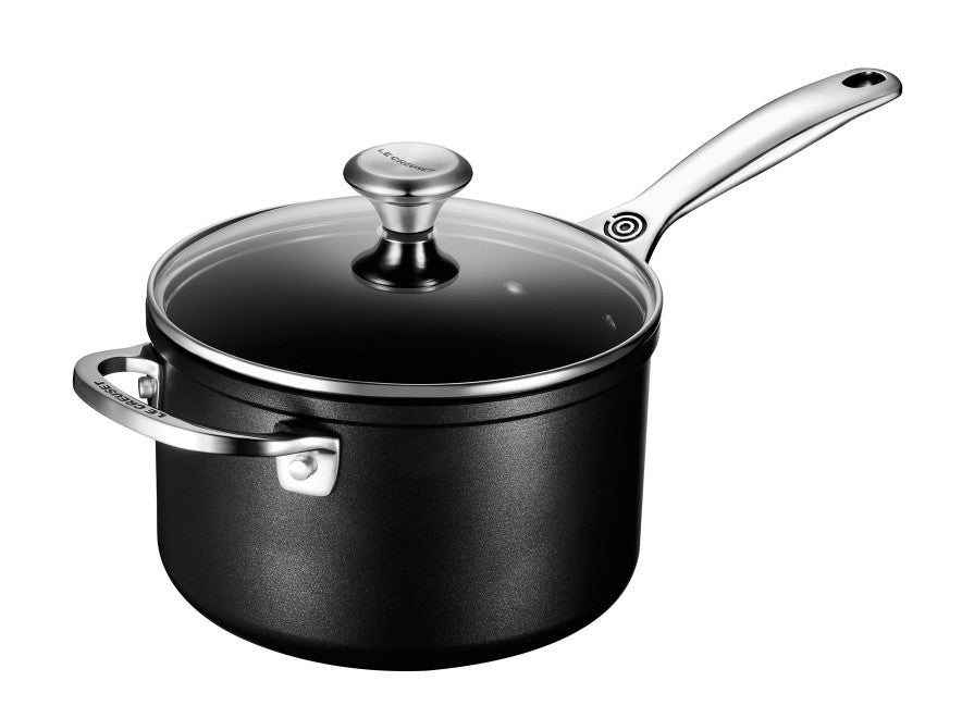 Le Creuset Toughened Nonstick PRO Saucepan w/Glass Lid