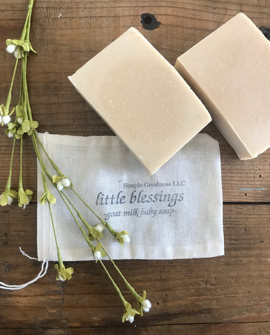 little blessings goat milk soap