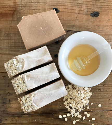Oatmeal & Honey Scrub Goat Milk Soap