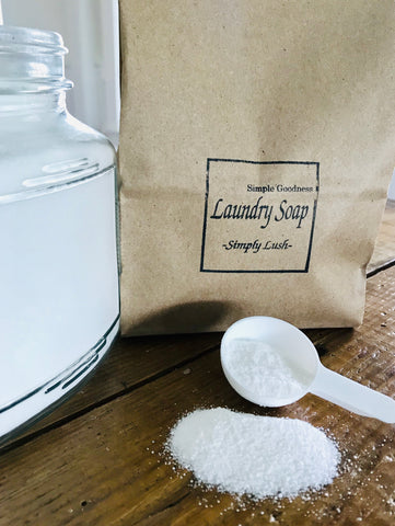 Simply Lush Laundry Soap Jar