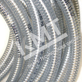 Tubing, Flexible, Clear, 3/4 OD X 1/2 ID, Static Free, Abrasive