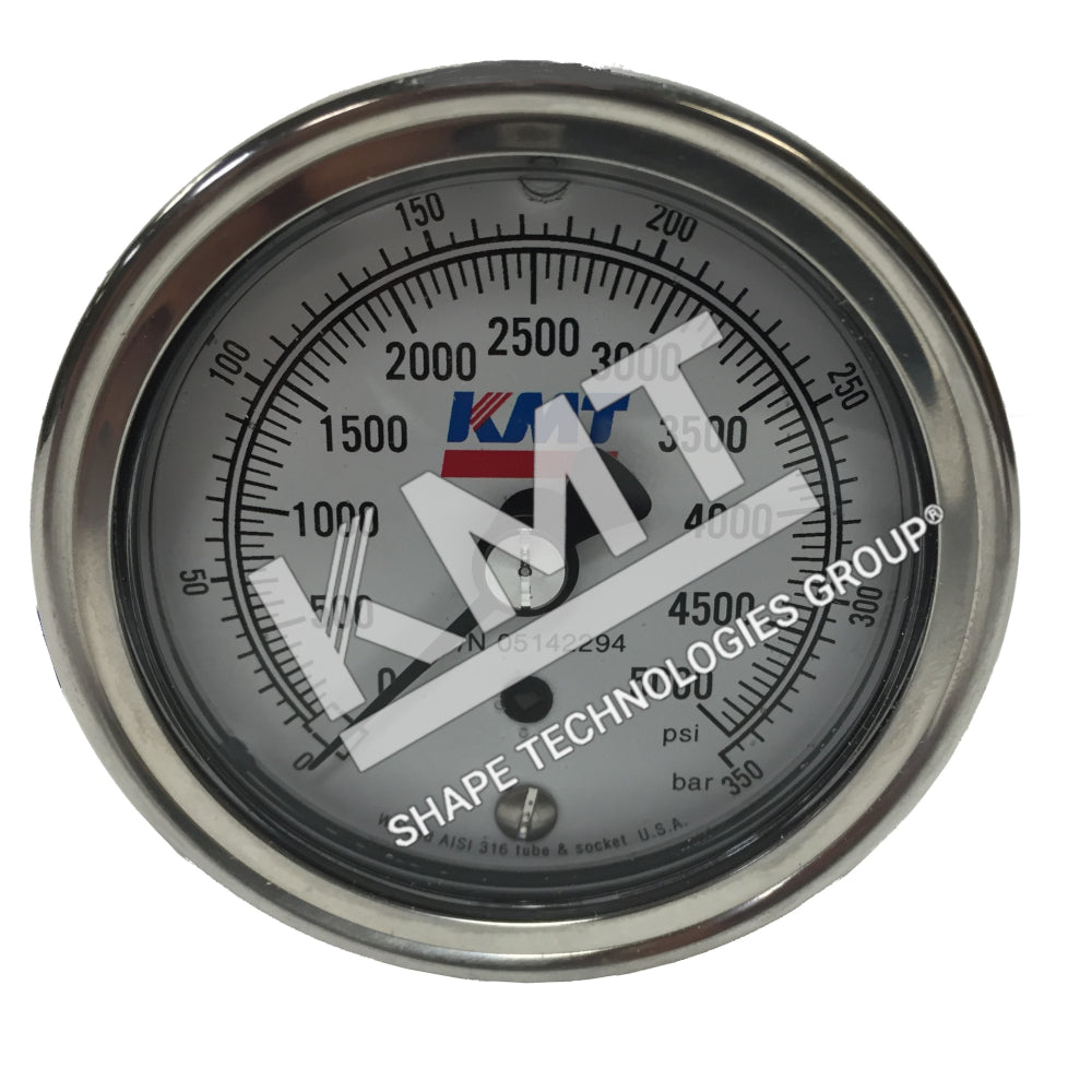 Gauge, Hydraulic, 0-5000 PSI, 90K