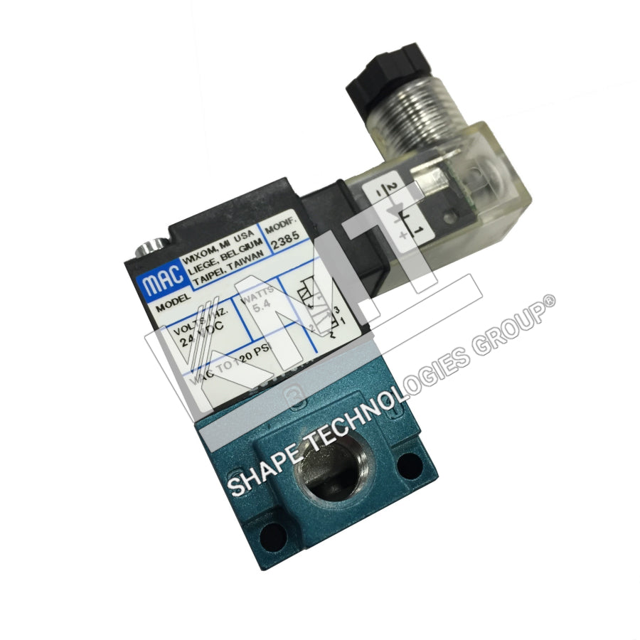 Solenoid Valve, Air, 2-3 Way, 2 Pos, 24 VDC
