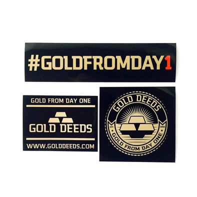 GOLD DEEDS STICKER PACK