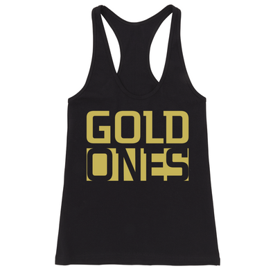 GOLD ONES FITTED RACERBACK TANK (Black)
