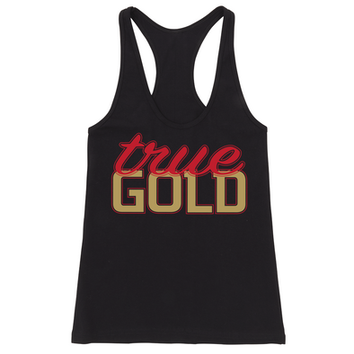 TRUE GOLD FITTED RACERBACK TANK (Black)