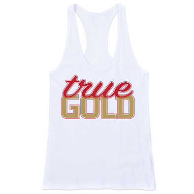 TRUE GOLD FITTED RACERBACK TANK (White)
