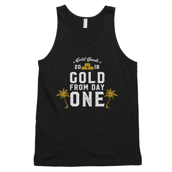 GOLD FROM DAY ONE PALMS TANK TOP (BLACK)