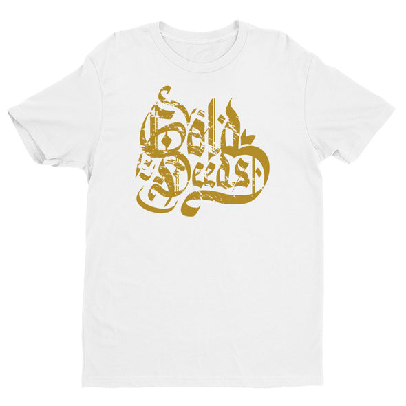 GOLD DEEDS OLD ENGLISH TEE (WHITE)