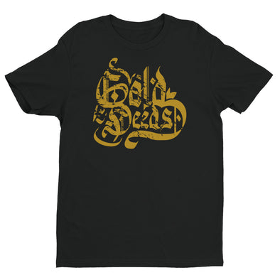 GOLD DEEDS OLD ENGLISH TEE (BLACK)