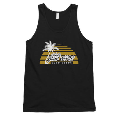 WHAT'S YOUR WORTH PALMS TANK TOP (BLACK)