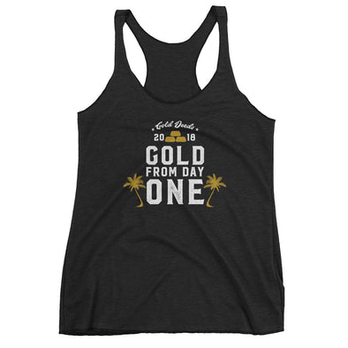 GOLD FROM DAY ONE PALMS RACERBACK (Black)