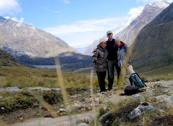 Travelling through high mountains in Huaraz Peru with friends, enjoying the spectacular views.