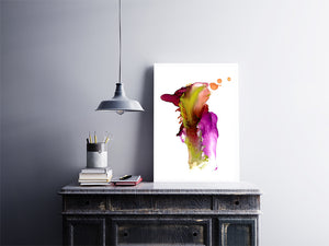 Purple Gold Alcohol Ink Printable
