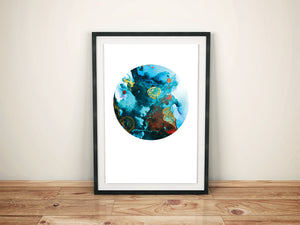 Add Deep Blue Sea Alcohol Ink Mandala Printable