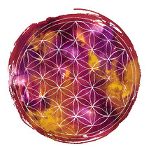 Flower of Life Purple Printable