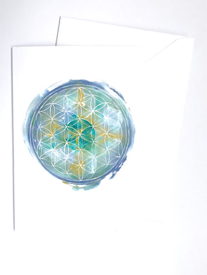 Flower of Life Blue