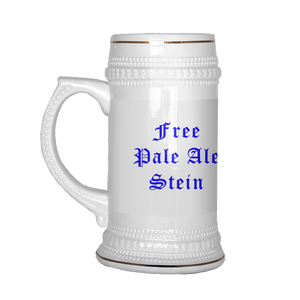 """Free Pale Ale Stein"" Beer Mug With TheMossadIL Logo"