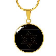 Star Of David Black and Gold Necklace/Bangle
