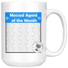 Personalized Mossad Agent of the Month 15 oz Mug - Upload Your Own Photo!