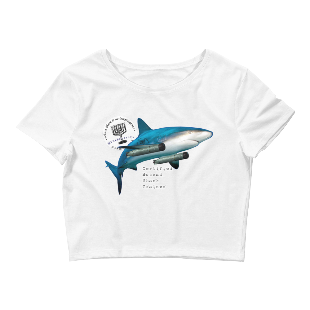 Certified Mossad Shark Trainer Women's Crop Tee