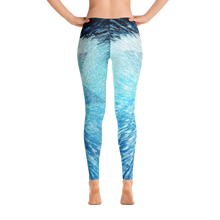 Blue & White All-Over Leggings