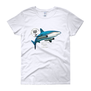 """Certified Mossad Shark Trainer"" Women's short sleeve t-shirt"