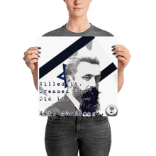 "Theodor Herzl ""Willed It. Dreamed It."" Poster"