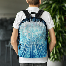 Blue & White Backpack