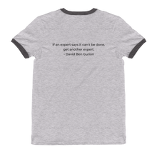 "Ben Gurion ""Get Another Expert"" Ringer T-Shirt"