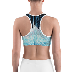 Blue & White Sports bra