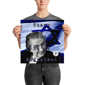 "Golda Meir ""Thank God We're Efficient""  Poster"