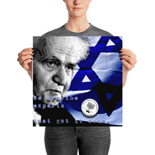 "Ben Gurion ""Get Another Expert"" Poster"
