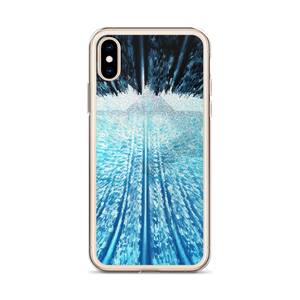 Blue & White iPhone Case