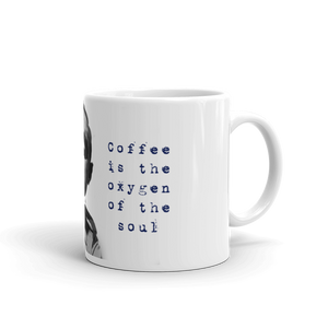 "Moshe Dayan ""Coffee is the Oxygen of the Soul"" Mug"