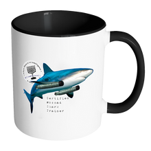 Certified Mossad Shark Trainer Accent Mug