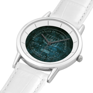 TheMossadIL Pure White Double-layer Concise Dial Water-resistance Quartz Watch