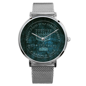 TheMossadIL Steel Strap Water-resistance Quartz Watch