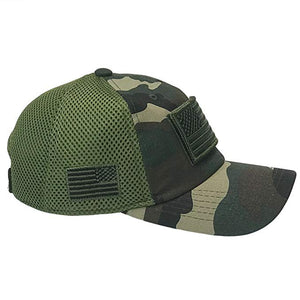 Camo American Flag Patch Hat