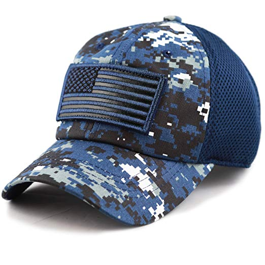 American Flag Patch Hat (Blue)