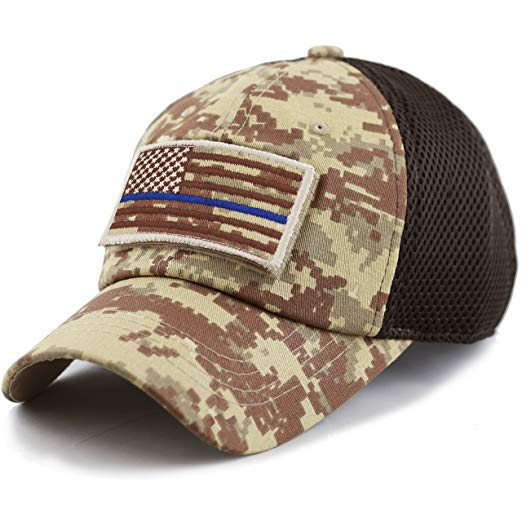 Blue Line USA Flag Patch Hat