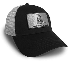 Don't Tread On Me Silver Snapback Hat