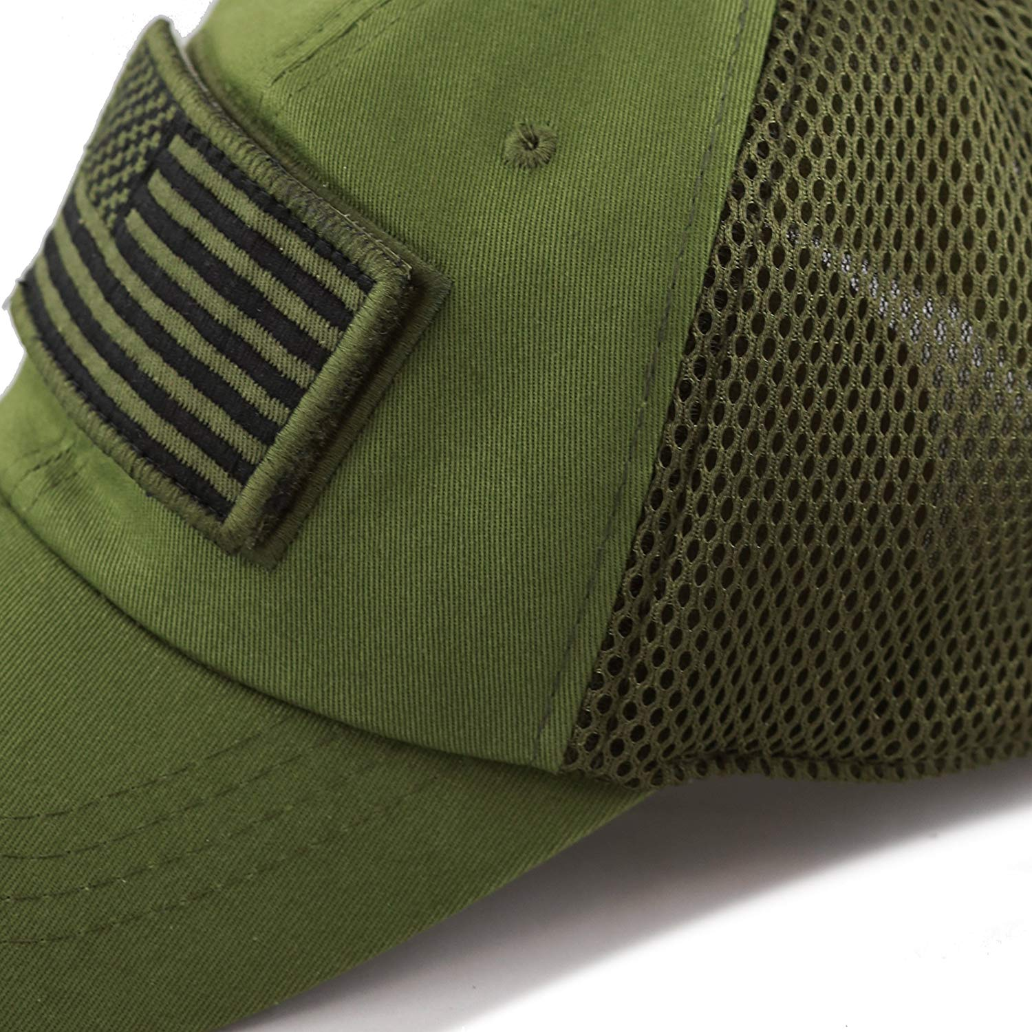 American Flag Patch Hat (Green)