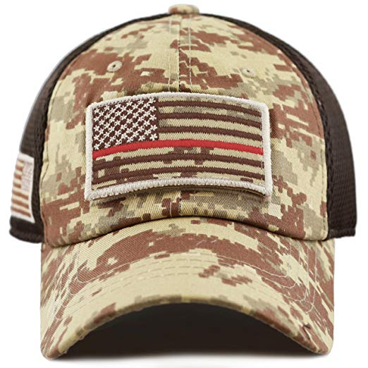 Low Profile Tactical Operator USA Flag Patch Hat