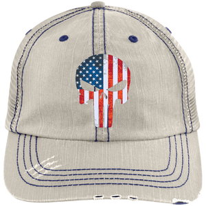 American Flag Punisher Trucker Hat