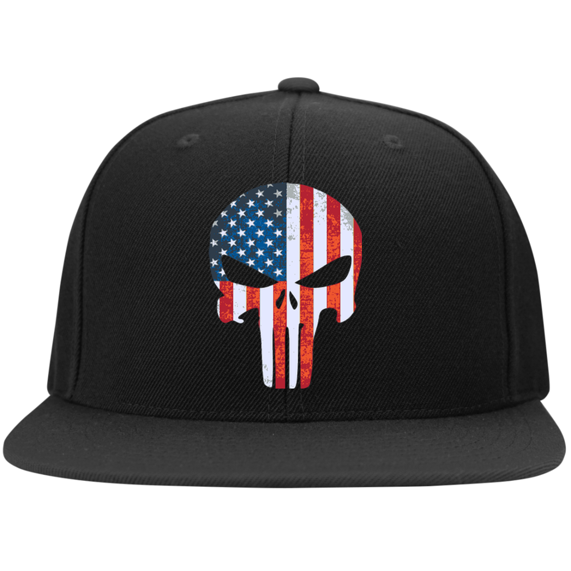 The Punisher Flat Bill High-Profile Snapback Hat