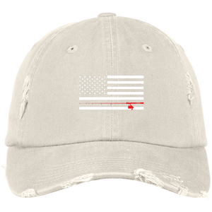 Vintage American Flag Fishing Pole Hat