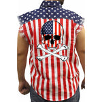 Men's USA Flag American Flag Biker Shirt American Pride Motorcycle