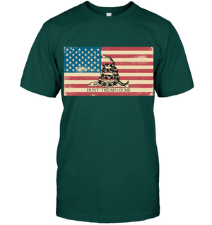 Don't Tread On Me/ American Flag mashup T-Shirt