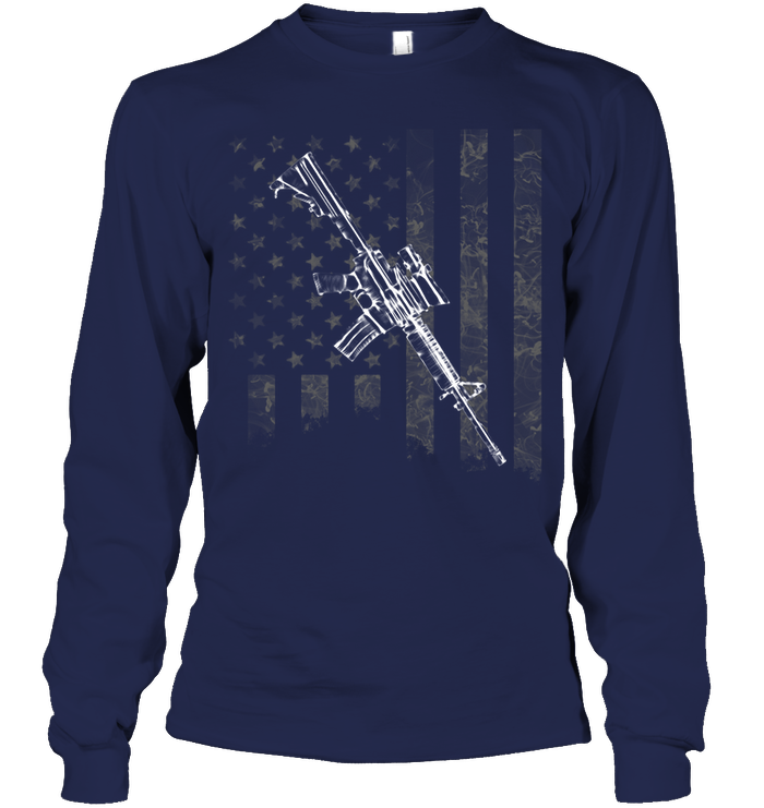American Rifle Flag Long Sleeve